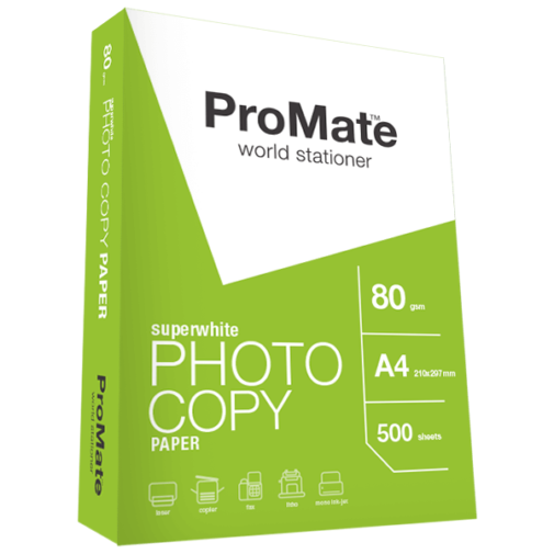 ProMate Photocopy Paper 80GSM A4 500 Sheets Pack